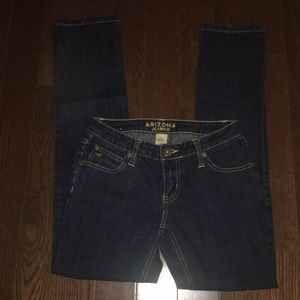 Arizona Jean Company straight leg dark denim jeans
